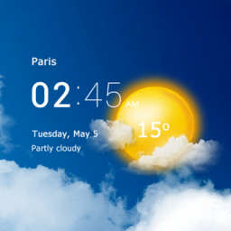 Скачать Прозрачные часы и погода